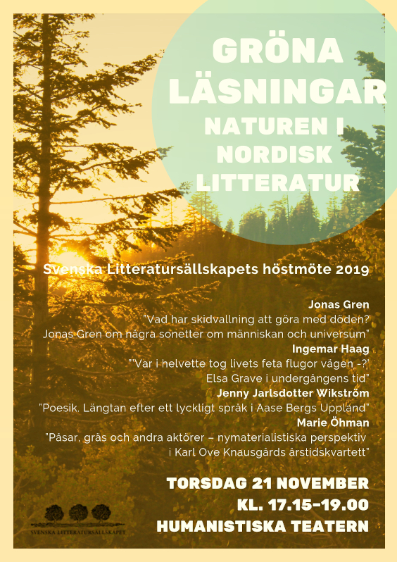 The Swedish Literary Society's Autumn Meeting 2019